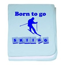 Born To Go Skiing baby blanket