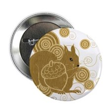 "Nuts About Squirrels 2.25"" Button (100 pack)"