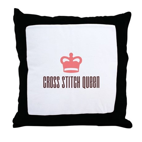 Cross Stitch Queen Throw Pillow
