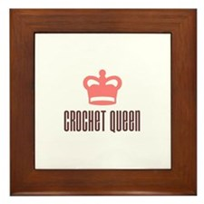 Crochet Queen Framed Tile