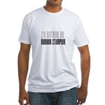 Rather Be Rubber Stamping Fitted T-Shirt