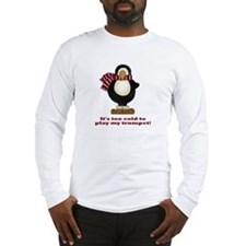 Funny Penguin Trumpet Long Sleeve T-Shirt