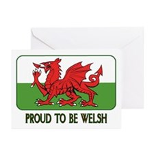 ...Proud To Be Welsh... Note Card (Pk of 10)