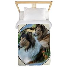 Rough Collie Art Twin Duvet