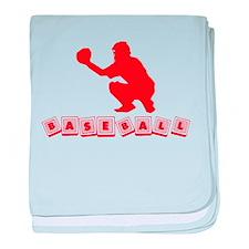 Baseball Baby Blocks baby blanket