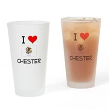 I Love CHESTER Illinois Drinking Glass