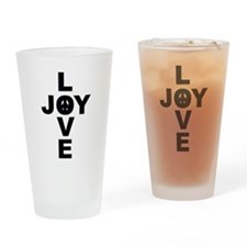 Funny Christmas peace Drinking Glass