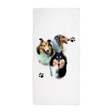 Collie Trio Beach Towel