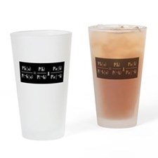 Odds Form Drinking Glass (White Text on Black)