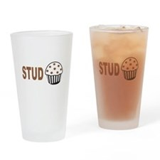 Stud Muffin Drinking Glass