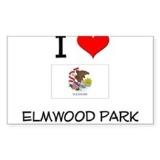 I Love ELMWOOD PARK Illinois Decal