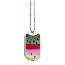 Rainbow Trout Skin Fishing Dog Tags