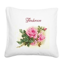 Customizable Canvas Pillow with Floral Motif