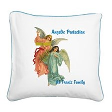 Angelic Protection Personalized Squ. Canvas Pillow