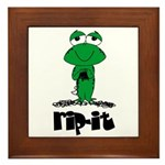 Rip It - Yarn Frog Framed Tile