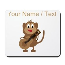 Custom Monkey Playing Guitar Mousepad