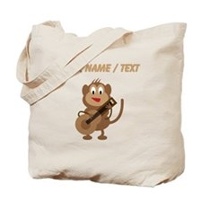Custom Monkey Playing Guitar Tote Bag