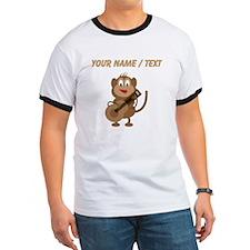 Custom Monkey Playing Guitar T-Shirt