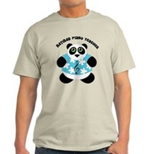 Retired Piano Teacher Panda T-Shirt