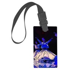 Whirling Dervishes in blue Large Luggage Tag
