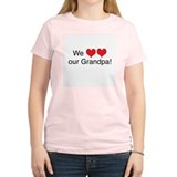 We heart grandpa Women's Pink T-Shirt