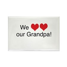 We heart grandpa Rectangle Magnet