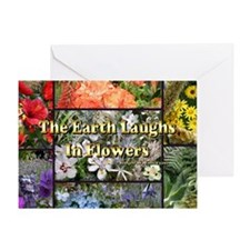 Rainbow colored Earth Laughs in Flow Greeting Card