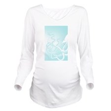 Octopus Tentacles Light Blue Long Sleeve Maternity