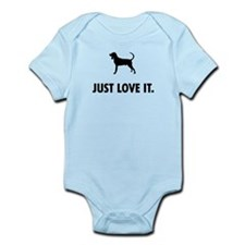 Black and Tan Coonhound Infant Bodysuit