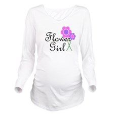 Purple Daisy Flower Girl.png Long Sleeve Maternity
