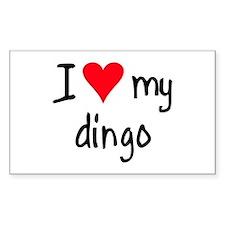 I LOVE MY Dingo Decal