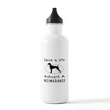 Adopt A Weimaraner Dog Water Bottle