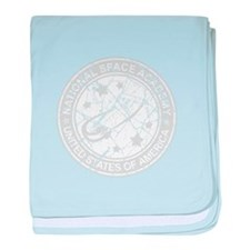 Space Academy Seal baby blanket