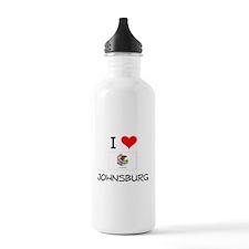 I Love JOHNSBURG Illinois Water Bottle
