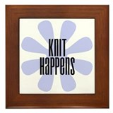 Knit Happens Framed Tile