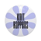 Knit Happens Ornament (Round)