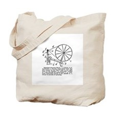 Yarn - Vintage Spinning Wheel Tote Bag