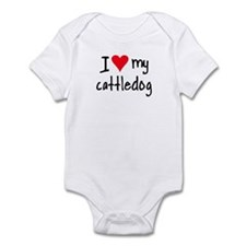 I LOVE MY Cattle Dog Infant Bodysuit