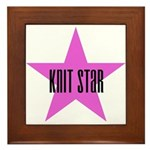 Knit Star Framed Tile