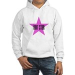 Knit Star Hooded Sweatshirt