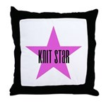 Knit Star Throw Pillow