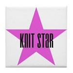 Knit Star Tile Coaster