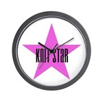 Knit Star Wall Clock