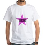 Knit Star White T-Shirt
