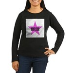 Knit Star Women's Long Sleeve Dark T-Shirt
