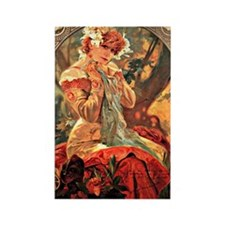 Cute Alphonse mucha Rectangle Magnet