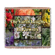 The Earth Laughs in Flowers Woven Blanket