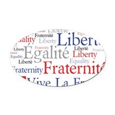 Vive La France Oval Car Magnet