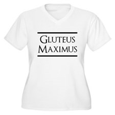Gluteus Maximus (black) Plus Size T-Shirt