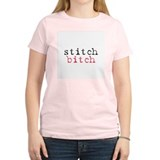 Stitch Bitch Women's Pink T-Shirt